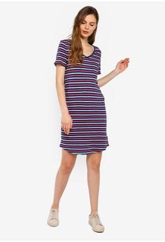 b470d3ba95c 36% OFF GAP Short Sleeve Relaxed V-Neck Pocket T-Shirt Dress S$ 54.90 NOW  S$ 35.10 Sizes XXS XS S M L