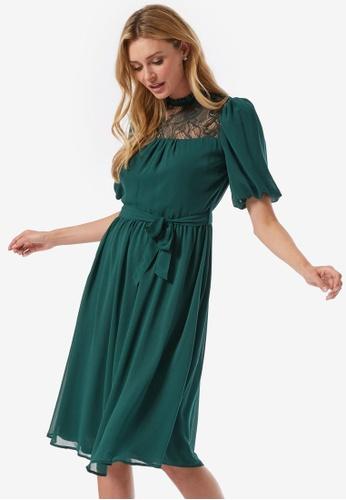 Dorothy Perkins green Billie & Blossoms Green Lace Yoke Dress FCD2EAAE3739C4GS_1