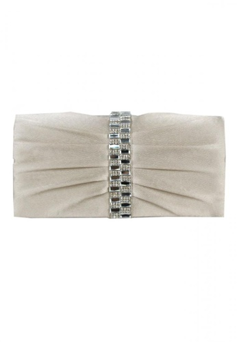 DNJ silver Diana Evening Bag with Long Strap DN487AC0JDEOPH_1