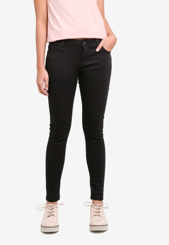 Penshoppe black Power Stretch Low Waist Jeans DDE96AAA1ADD5FGS_1