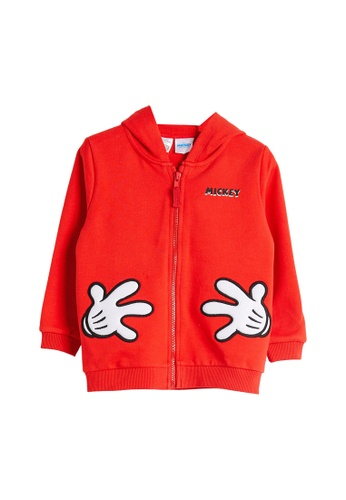LC Waikiki red Baby Boy Mickey Mouse Zip Hoodie 01934KA1A93220GS_1