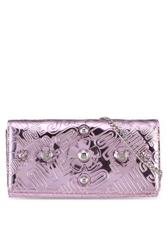 Love Moschino pink LOVE MOSCHINO Portafogli Embossed Wallet LO478AC0SXZ4MY_1