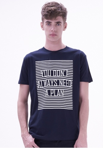Drum blue Fashion Graphic Tee - NAVY DR425AA22VEJMY_1