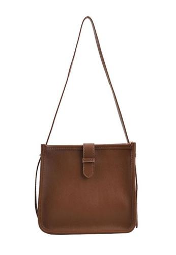 Lara brown Women's Leather Square Shoulder Bag - Khaki 0E6BEAC882774FGS_1