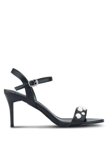 VINCCI black Strappy Heels B392CSH134FAC8GS_1