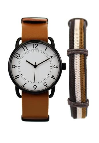LEUPP brown Imako Watch And Bracelet Pack F14C7AC8C0994AGS_1