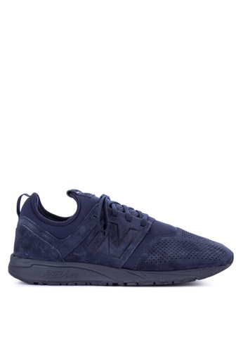 New Balance navy 247 Tonal Suede Sneakers 2292CSHE6FD629GS_1