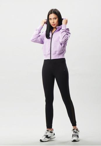 AVIVA 紫色 AVIVA拉链款连帽开衫运动外套 CA601AAD1A5A41GS_1
