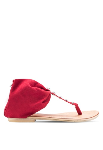 Sulima red Rose Red Sandal SU915SH64VPFMY_1