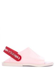 0d2c9473ad6a Melissa pink Twist Flat Sandals 132F5SH8F8BF02GS_1