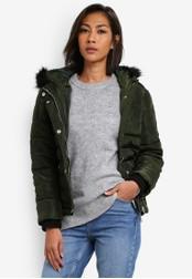 Dorothy Perkins green Petite Navy Short Puffer Jacket DO816AA0SB7FMY_1