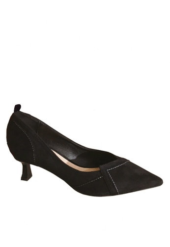 Twenty Eight Shoes black Microfiber Suede Mid Heels VL66620 BD524SH2F52CC5GS_1