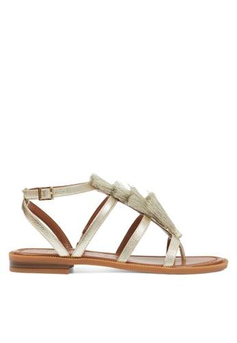 Nine West gold NWGAPARINA Strappy Sandals 052D2SHC0F47B6GS_1