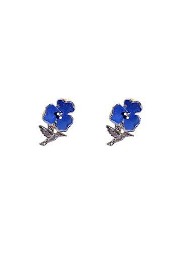 Glamorbit blue Blue Flower Earrings 9C6C4ACB8A625AGS_1