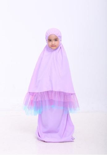 AN-NAJWA purple Annajwa Telekung Kids Tutu Unicorn Cotton A4F18KCC2966DDGS_1