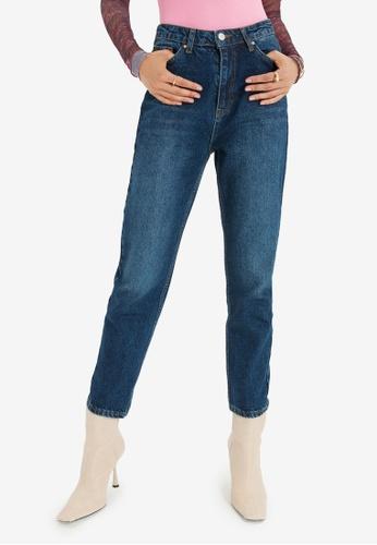 Trendyol blue High Waist Mom Jeans 2B7D4AA584C1C9GS_1