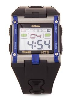 Box Sport Watch Unisex Blue Resin Strap Watch XJ-852