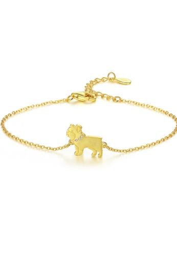 SUNRAIS gold Premium Silver S925 golden puppy bracelet 2B0BCAC1B00A8AGS_1