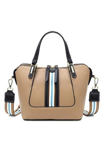 Twenty Eight Shoes beige VANSA Color Matching Cow Leather Hand Bag VBW-Hb2361 E89F5AC9B209AFGS_1