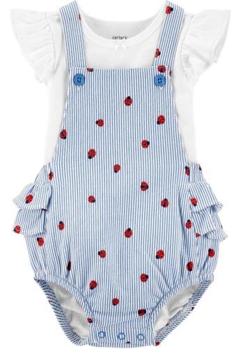 Carter's white CARTER'S Girl Ladybugs Tee & Shortall Set B147FKA91306D0GS_1