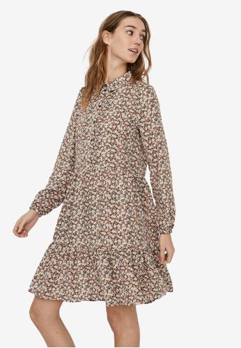 Vero Moda beige Lina Dress EB9CCAAE98B1CAGS_1