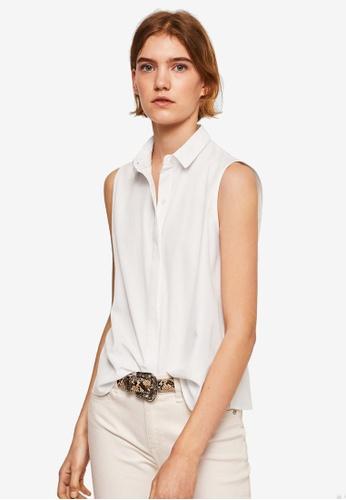 Mango white Buttons Details Shirt 9051DAAA82FF4CGS_1
