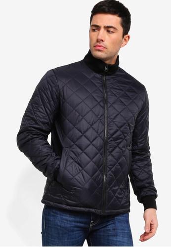 Calvin Klein 黑色 菱格紋外套 60305AA08C61EDGS_1