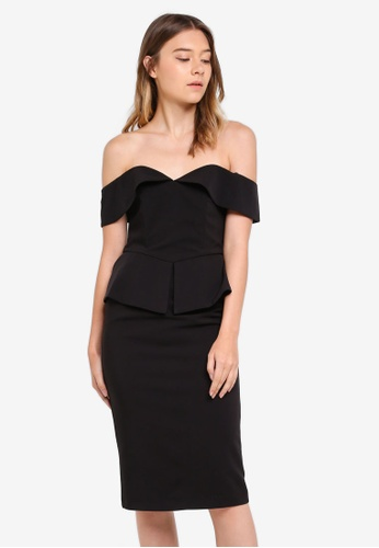 Bardot black Temika Midi Dress BA332AA0STBGMY_1
