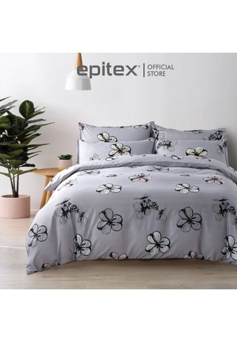 Epitex multi Epitex Silkysoft 900TC SP9052-5 Fitted Sheet Set (w quilt cover) - Bedsheet - Bedding Set - Quilt Cover Set 8649EHL7CFBC52GS_1