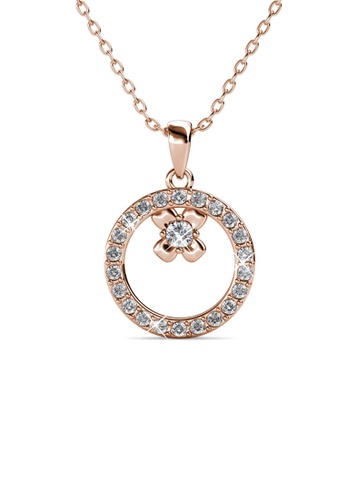 Her Jewellery Eliza Pendant (Rose Gold) - Embellished with Crystals from Swarovski® 4EC8CAC5156F72GS_1