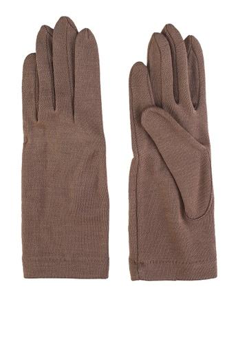GLOBAL WORK beige Classic Knit Gloves EB30FAC593B015GS_1