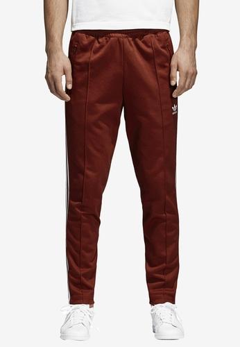 adidas red adidas originals beckenbauer track pants AD372AA0SUXWMY_1