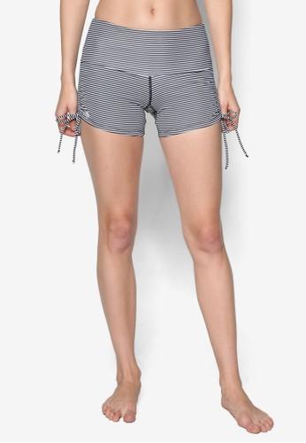 側繫帶條紋游泳短褲, 服esprit 童裝飾, 泳裝