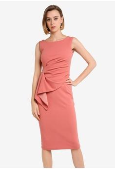 3288335f06 Dorothy Perkins pink Frill Detail Pencil Dress 0D19AAAA8B8CDDGS 1