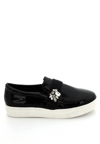MINKA black ESTEE Jewelled Slip On MI006SH47KGIID_1