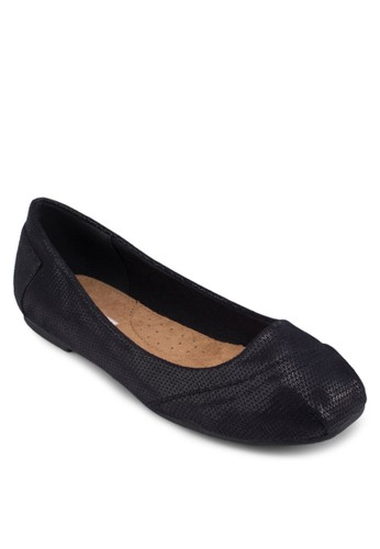 Sesprit台灣網頁atillo 暗紋平底鞋, 女鞋, 芭蕾平底鞋