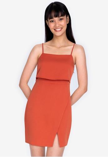 ZALORA BASICS orange Double Layer Cami Mini Dress A1D12AA476266FGS_1