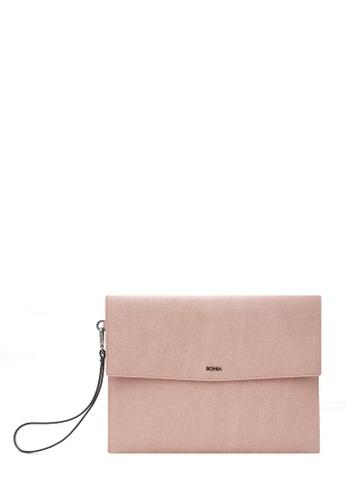 BONIA pink Blush Pink Betsy Mini iPad Pouch 11CFFAC33DB6BBGS_1