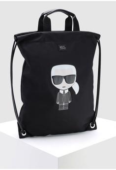 1868de92e444 KARL LAGERFELD Ikonik Nylon Flat Backpack RM 667.00. Sizes One Size