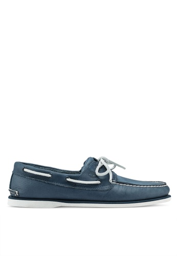Timberland navy Classic 2 Eye Boat Shoes CFC7ASH2DE798EGS_1