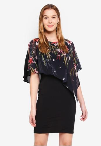 8b323a75d5c5 Buy Wallis Black Oriental Print Overlay Dress Online | ZALORA Malaysia