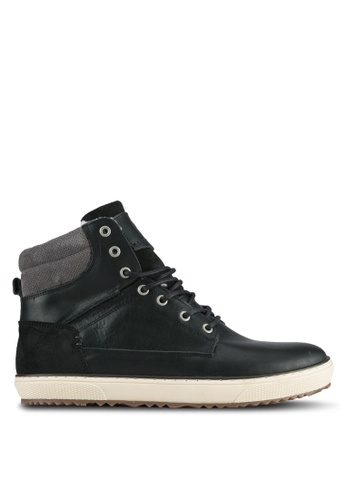 Dune London black Warm Lined Hi-Top Sneakers DU588SH0SIONMY_1