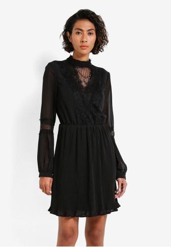 Vero Moda black Gab Long Sleeve Dress VE975AA0RRHFMY_1