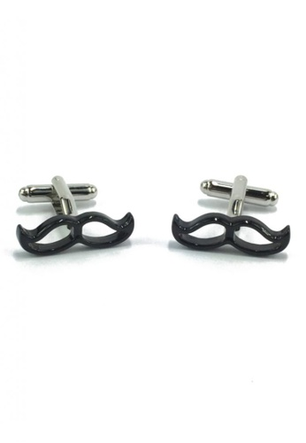 Splice Cufflinks black Black Moustache Cufflinks SP744AC43EZCSG_1