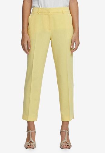 Dorothy Perkins yellow Petite Yellow Ankle Grazer Pants DCE1EAA4CC8E7FGS_1