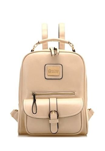 Jackbox beige Korean Fashion Casual Ipad Backpack 509 (Beige) JA762AC16VHNMY_1