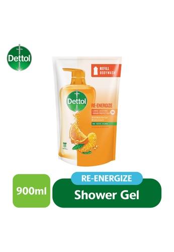 Dettol Dettol Shower Gel Re-Energize Refill Pouch 900G (J) C10B7ES6A31BF5GS_1