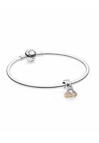 Pandora silver Interlocked Hearts Bangle Set AFFE1AC5316EE7GS_1