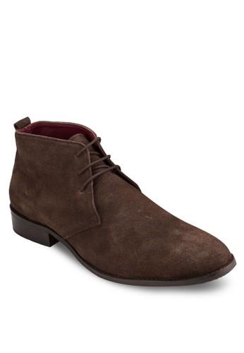 三esprit香港門市眼繫帶麂皮短靴, 鞋, 鞋