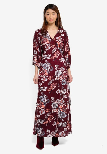 ZALORA red Wrap Maxi Dress 28EB1AA4D10996GS_1